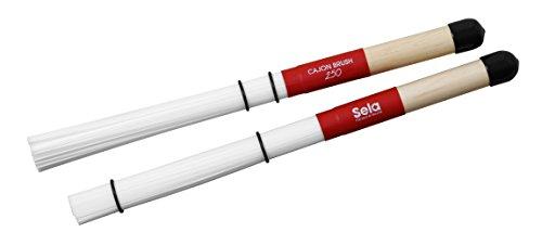 Sela SE 036 Cajon Brush 250 für Cajons, Percussion Instrumente und Schlagzeug, Cajon Zubehör, Drum Sticks mit Nylonfasern