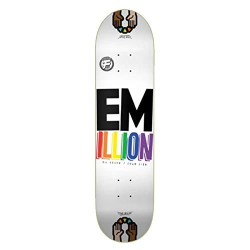 Emillion Skateboard Deck Fibertech, Größe:8.375, Farben:one World