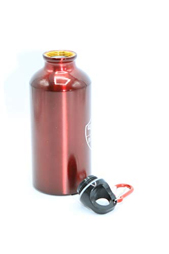Giemme Borraccia in Alluminio Color Rosso con Moschettone e Tappo a Vite, Prodotto Ufficiale AS Roma. H 17 CM, capacità 400 ML