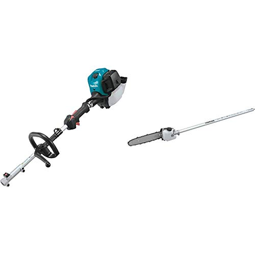 Makita EX2650LH 25.4 cc MM4 4-Stroke Couple Shaft Power Head and EY401MP 10 Inches Pole Saw Couple Shaft Attachment