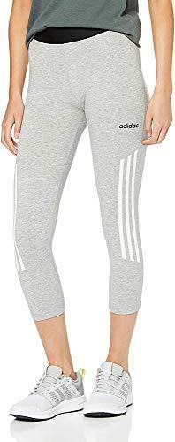 adidas D2M Hi-Rise 3/4 Mallas, Mujer, Gris (Medium Grey Heather/Black), M