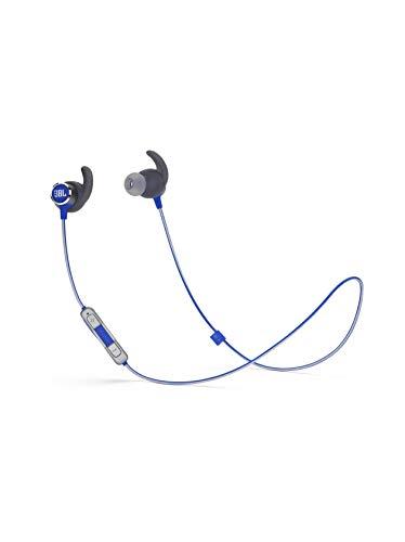 JBL Reflect Mini 2 Bluetooth Kopfhörer in Blau – Sport Headphones wasserabweisend – Wireless In Ear Kopfhörer kabellos – Bis zu 10 Stunden Akkulaufzeit