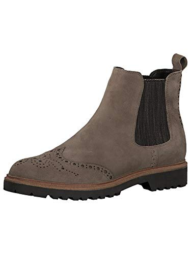 Tamaris Damen Stiefeletten, Frauen Chelsea Boots, Ladies Women's Woman Freizeit leger Stiefel halbstiefel Bootie flach Lady,Antelope,37 EU / 4 UK