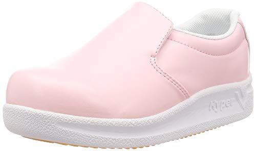 [日進ゴム] 作業靴 ハイパーV #5000 耐油 防滑 軽量 先芯無し ピンク 23.5