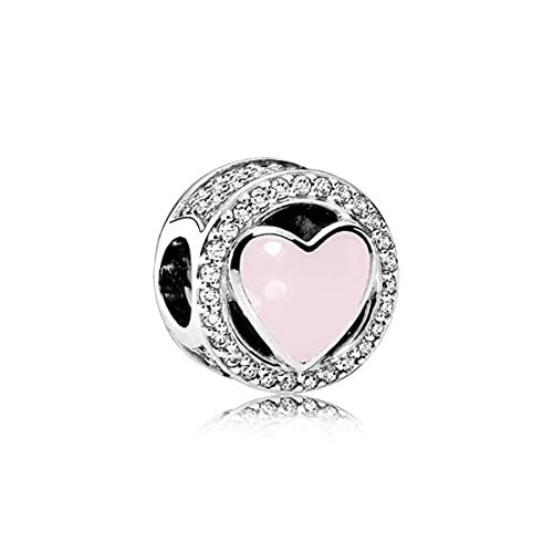 Nueva moda encanto original rosa melocotón flor mariposa amor serie granos convenientes para las señoras originales pulsera joyas-TH0022