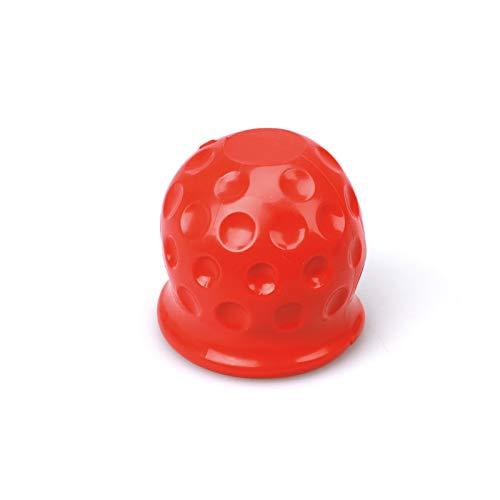 Preisvergleich Produktbild RuYunLong 4 Farben Universal 50mm Tow Bar Ball Cover Cap Anhänger Kugelabdeckung Tow Bar Cap Hitch Trailer Towball Schutz Autozubehör (Color Name : Red)
