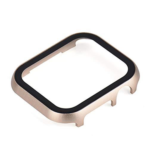 Caja de metal y vidrio de película templada para Apple Watch 42 mm 38 mm 44 mm40mmCubierta iWatch SE 6 5 4 3 2 1 Carcasa protectora de reloj