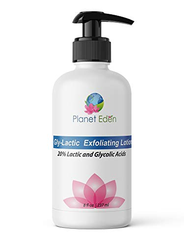 20% Gly-Lactic Face and Body Skin Cream Lotion - 10% Glycolic and 10% lactic Acid for Exfoliation (8 oz)