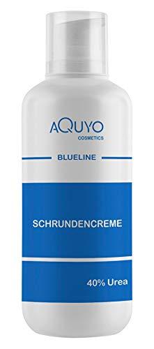 Blueline Schrundencreme 40% Urea, Fußcreme zum Hornhaut entfernen (500ml)   Creme für rissige Fersen und Füße, zur Behandlung von Schrunden an Händen, Ellenbogen oder Füßen