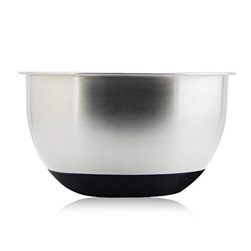 Stainless Steel Salad Bowl with Silicone Base Mixing Bowl Serving Bowl for Cooking, Baking Storing Sustainable and Robust Cooking Bowl for the Kitchen (Color : 24 Cm)