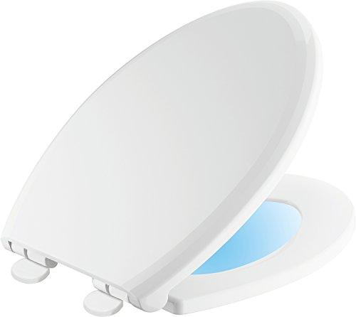 Delta Faucet 813902-N-WH Sanborne Elongated Nightlight Toilet Seat