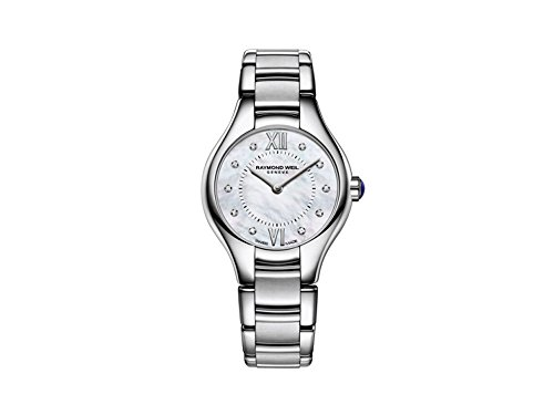 Raymond Weil Damen Analog Quarz Uhr mit Edelstahl Armband 5124-ST-00985