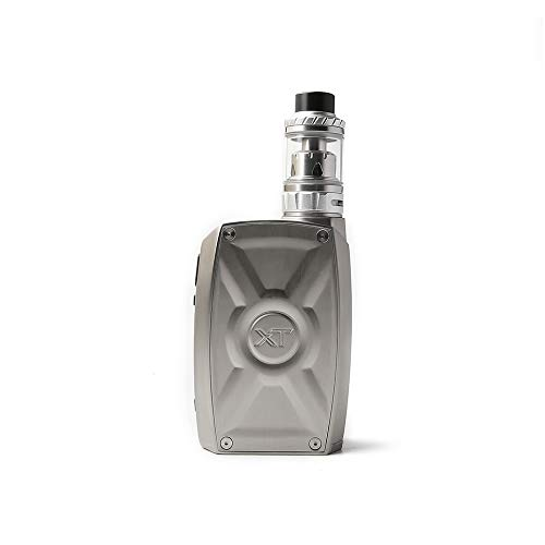 Original Teslacigs XT 220W Box Kit with Tallica Mini Atomizer Tank 4ml Tesla XT Box Mod Vape 21700/20700/18650 (Silver)