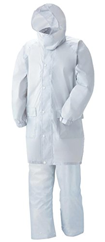 スミクラ 透湿レインスーツ リュック型 全2色 全6サイズ 上下スーツ シルバー LL 防水・透湿 収納袋付き 反射テープ付き [正規代理店品]