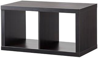 IKEA KALLAX - Estantería (77 x 42 cm), color marrón y negro