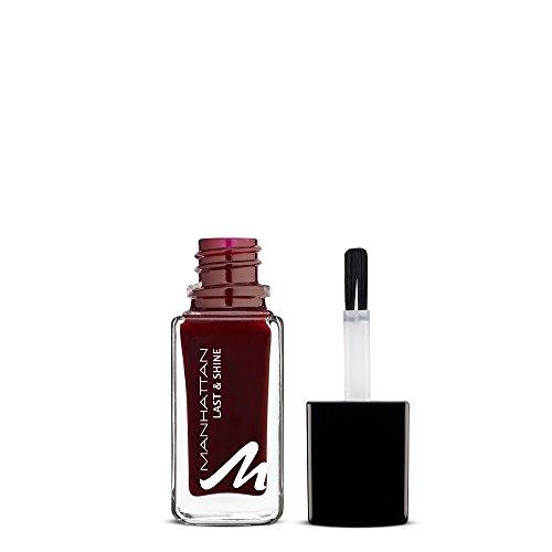 Manhattan Last & Shine Nagellack – Tiefroter, glänzender Nail Polish für 10 Tage perfekten Halt – Farbe Red Night 560 – 1 x 10ml