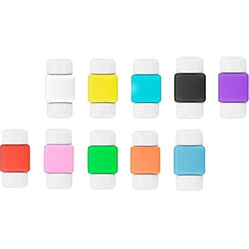 Wudi Câbles colorés pour Iphone Protection Contre la Foudre Chargeur Charging Protector Protection de Ligne Câble de données Economiseur 10pcs Saver Responsable Fixateur