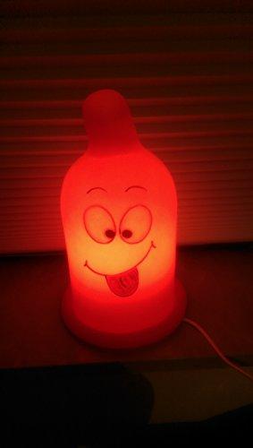 Dekoleuchte Nachttischlampe - Kondom ROT - Party Spass - Scherzartikel - 220V / 15W