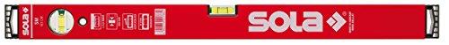 Sola SM RED - Wasserwaage aus Aluminium, 60 cm, mit 2 Luftblasen