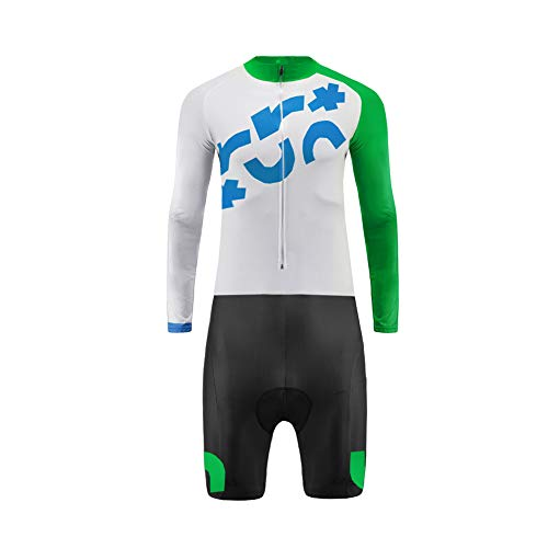 Uglyfrog Männer Radtrikot Set Sommer & Herbst Langarm with Short Legs Skinsuit mit 3D Sitzpolster Herren Fahrradtrikot Triathon Fahrradanzug LTFX01