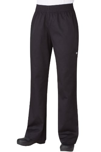 Chef Works Women's Essential Baggy Chef Pants, Black, X-Large