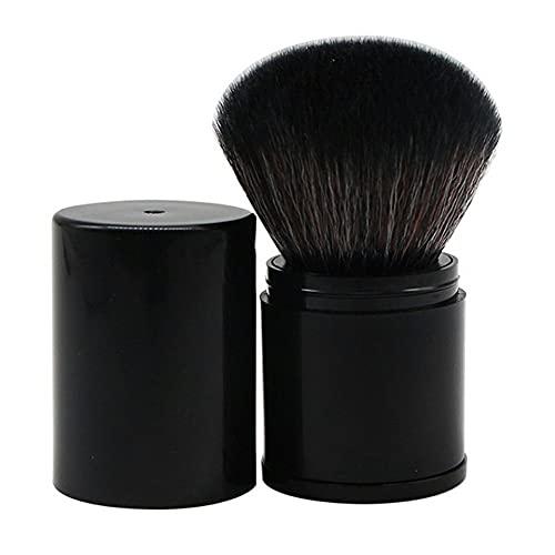 Kongqiabona-UK Brosse de Maquillage rétractable portative Brosse de Fard à Joues en Poudre Libre avec Couvercle Tube intérieur télescopique en Fibre de Cheveux Souple