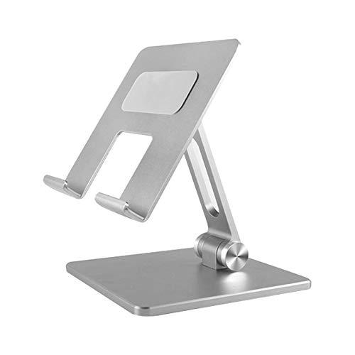 Wivarra Tablet Stand,Tablet Holder Adjustable Foldable Eye-Level Aluminum Solid Up to 15-in Tablets Holder for Pro Stand