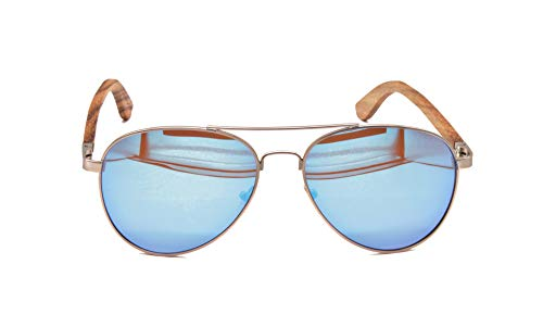 Wood Kiwi: Hunting Hawk - Gafas de sol de madera polarizadas, UV400, unisex