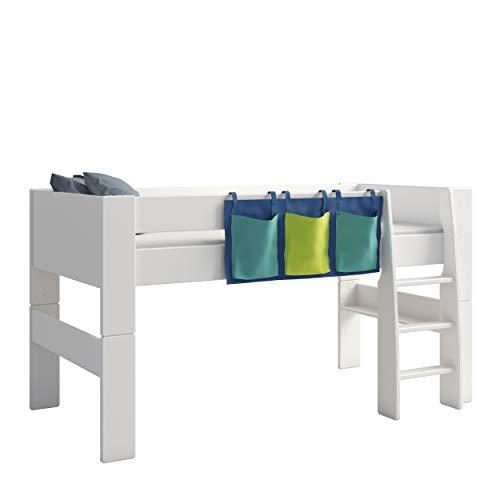 Steens For Kids Utensilo,Taschenset für Kinderbett, Hochbett, 93 x 38 x 1 cm (B/H/T), Baumwolle, blau