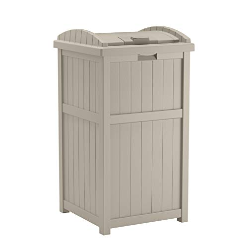 10 Outdoor Garbage Can Storage Ideas for Your Backyard: Suncast Outdoor Trash Can Hideaway With Lid
