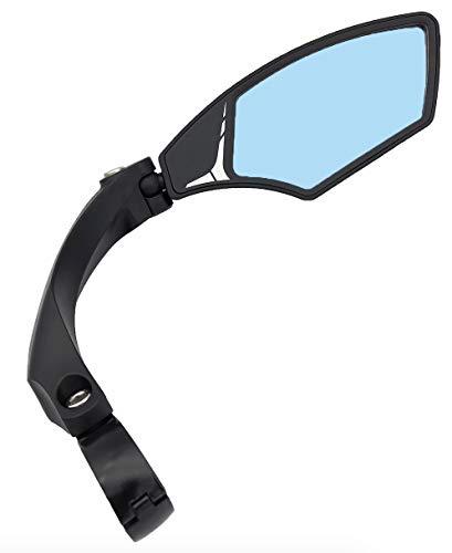 Hafny NEW Handlebar Bike Mirror, HD,Blast-resistant, E-bike Mirror, Glass Lens, HF-MR095 (Anti-glare Blue Right)