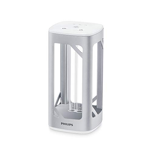Philips Lámpara de mesa desinfectante UV-C de aluminio, por luz ultravioleta, desinfección de virus y bacterias, gris metalizado [Amazon Exclusive]