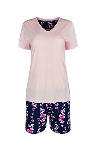 HUBER Damen Pyjama kurz 18968, Rose Smoke, 42