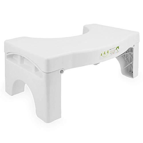 Klappbarer Hocker für die Toilette | Medizinisch getestet und bewährt, um Stuhlgang zu helfen Anti-Rutsch-Bad Step Up | Pukkr