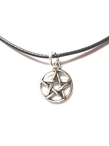 Dreamlife Halskette (Farbe) Antik-Silber Anhänger - Pentagramm