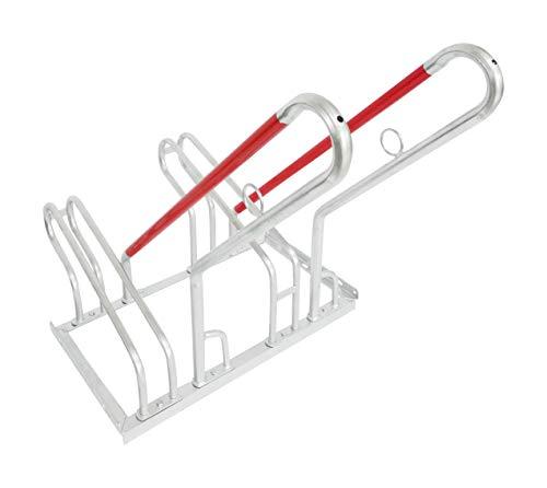devil ray - Fahrradständer Bike Stand mit Anlehnbügel 2 Stellplätze feuerverzinkt einseitig verschraubt - 70 cm (Breite) x 93 cm (Tiefe) x 82 cm (Höhe) (2 Stellplätze)