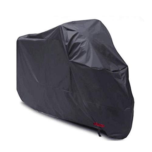 HIOD Impermeable Moto Cubiertas Universales de Motocicleta Protección Impermeable Polvo 210D Tela Oxford,Black,L