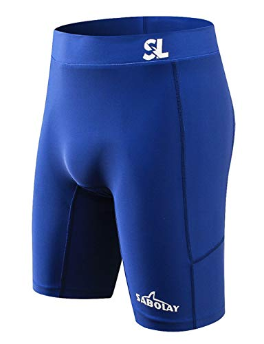 Men Jammer Trunk Water Sports Fitness High Compression Quick Drying Long Swimming Shorts XS Navy
