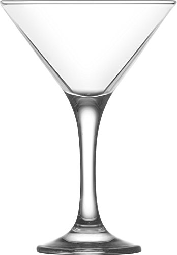 LAV 6.5 Ounce Martini Glasses | Misket Collection – Thick and Durable – Dishwasher Safe – Perfect for Parties, Weddings, and Everyday – Great Gift Idea – Set of 6 Clear Glass Martini Glasses