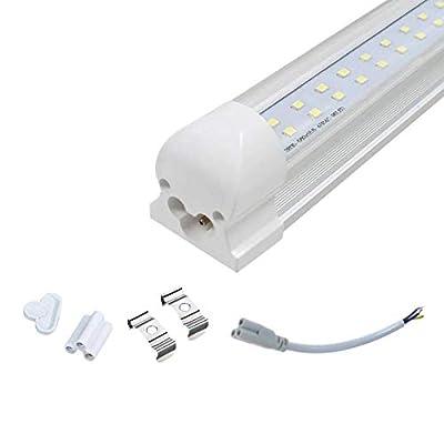 T8 4ft LED 2 Row Tube; 22W 6500K; V Shape Integrated; Clear