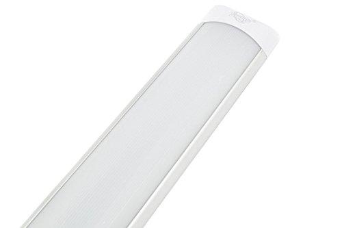 LineteckLED® - P25-48C Plafoniera Led Ultraslim 150cm 60W luce Calda (3000K) 4800 Lumen sostituisci le Plafoniere Tradizionali Neon con le Plafoniere LED a Soffitto Moderne