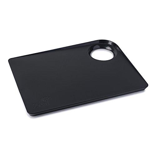 Zeal au Cour Poêle de Cuisine Planche à découper avec antidérapant Base-Large (38,1 cm/39 cm), Citron Vert, 38.5 x 28.5 x 2.5 cm, Plastique, Noir, 38.5 x 28.5 x 2.5 cm