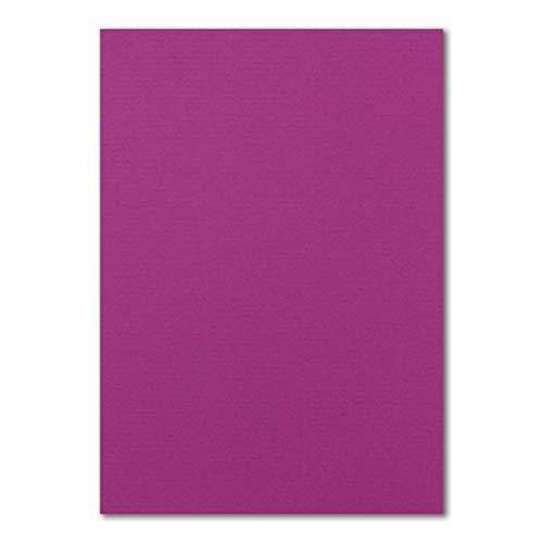 100x DIN A4 Papier Planobogen -Amarena gerippt - 110 g/m² - 21 x 29,7 cm - Bastelbogen Ton-Papier Fotokarton Bastel-Papier Ton-Karton - FarbenFroh®