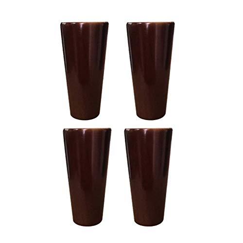 Ondersteuning voet Scandinavische bank bed benen massief hout voeten walnoot tv-kast nachtkastje tafel salontafel voeten hoge meubels houten accessoires 15 cm rechte voet