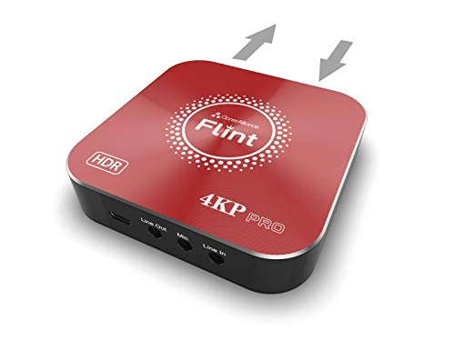 ClonerAlliance Flint 4KP Pro, 4K a 60fps HDR Passthrough, 4K a 30fps y 1080p a 60fps HDR Captura de vídeo con entrada de micrófono, latencia ultrabajo para PS5, Xbox X/S.