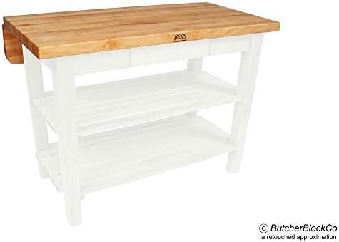 Amazon Com John Boos Kitchen Island Bar Work Table 48in X 38in Alabaster Base Kitchen Dining Room Furniture