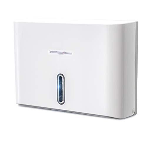 Papierhandtuchspender Papierspender - Toilettenpapier-Halter Wandhalterung for Gewerbe Tissues Spender, weiß