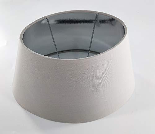 Oval-Lampenschirm-konische-Form Creme Beige (20 * 30 * 18cm)