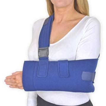 Deluxe Arm Sling & Shoulder Immobiliser (One Size Fits All) Available in Black or Blue- Ideal for Shoulder Dislocations, Shoulder Immobilization, Forearm Support, Fractured Arm (Universal Blue)