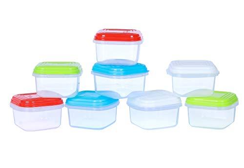 ARSUK Recipientes para Comida de bebé, Contenedores de conservación de alimentos, Refrigerar y Microondas,100{86be3d0d27b8769d90e42a421a7c33b52d8fee1eddb9ffc0676c9096a926be6a} a Prueba de Fugas sin BPA (8 piezas - 120ml)
